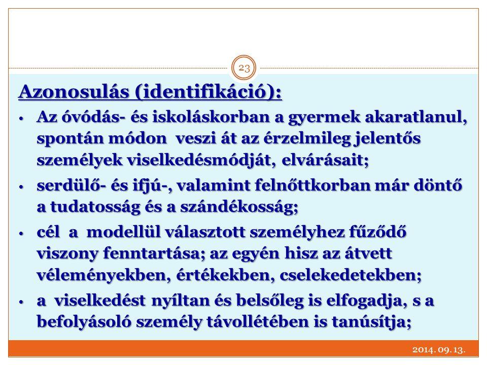 Azonosulás (identifikáció):