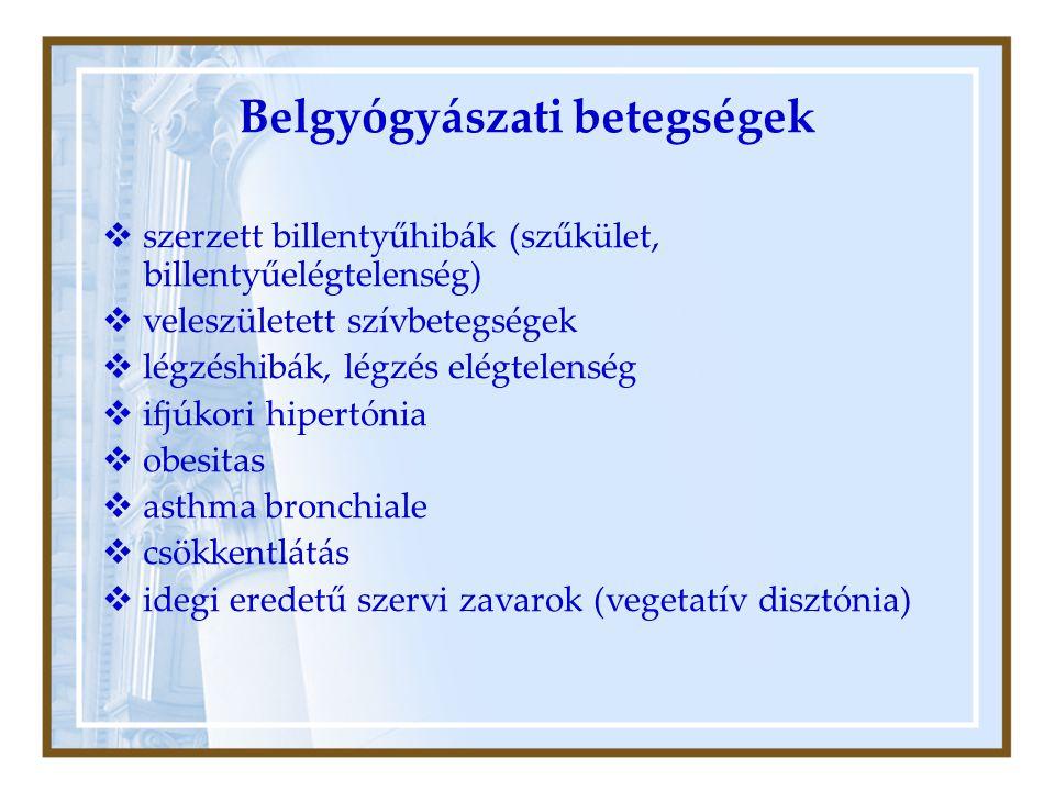 Belgyógyászati betegségek