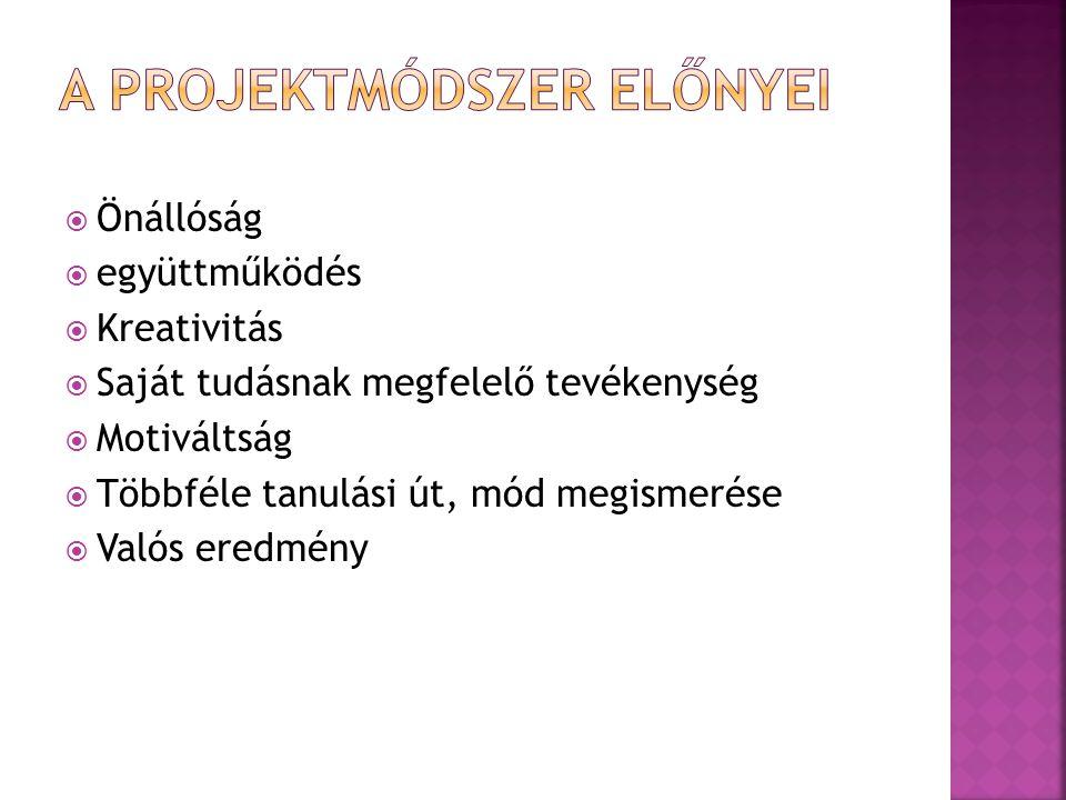 A projektmódszer előnyei