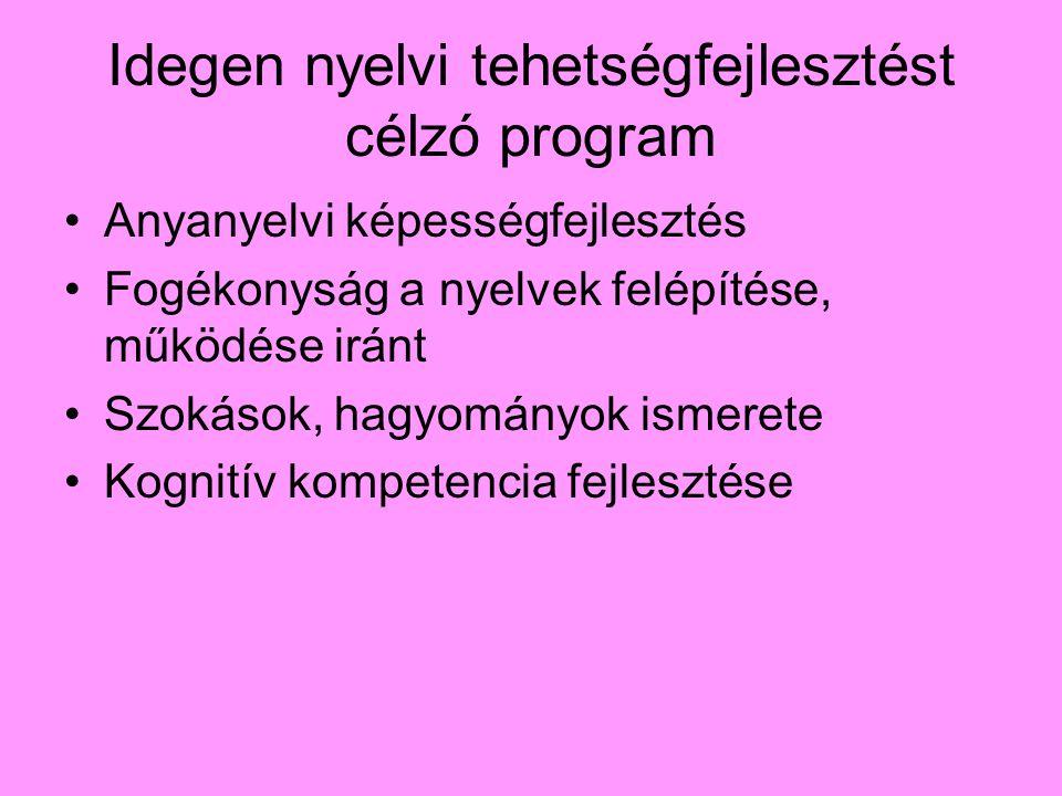Idegen nyelvi tehetségfejlesztést célzó program