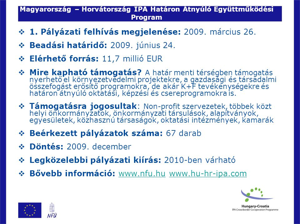 Magyarország – Horvátország IPA Határon Átnyúló Együttműködési Program