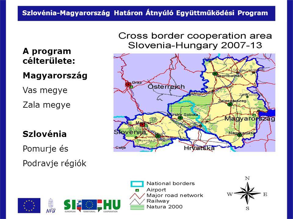 A program célterülete: Magyarország Vas megye Zala megye