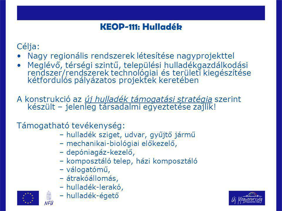 KEOP-111: Hulladék Célja: