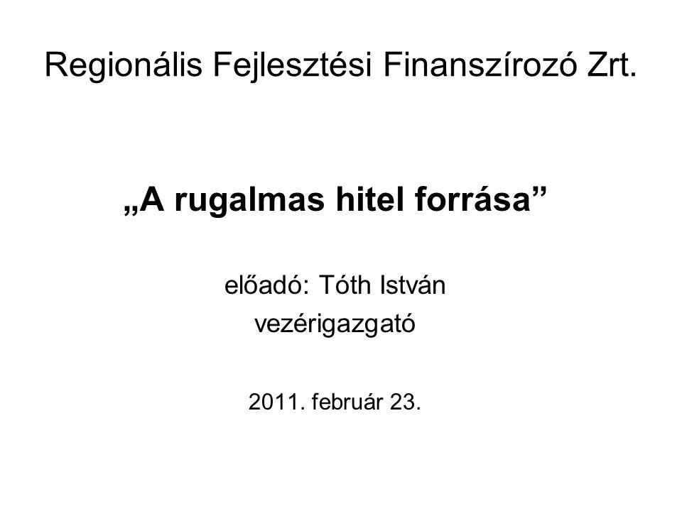 Regionális Fejlesztési Finanszírozó Zrt.