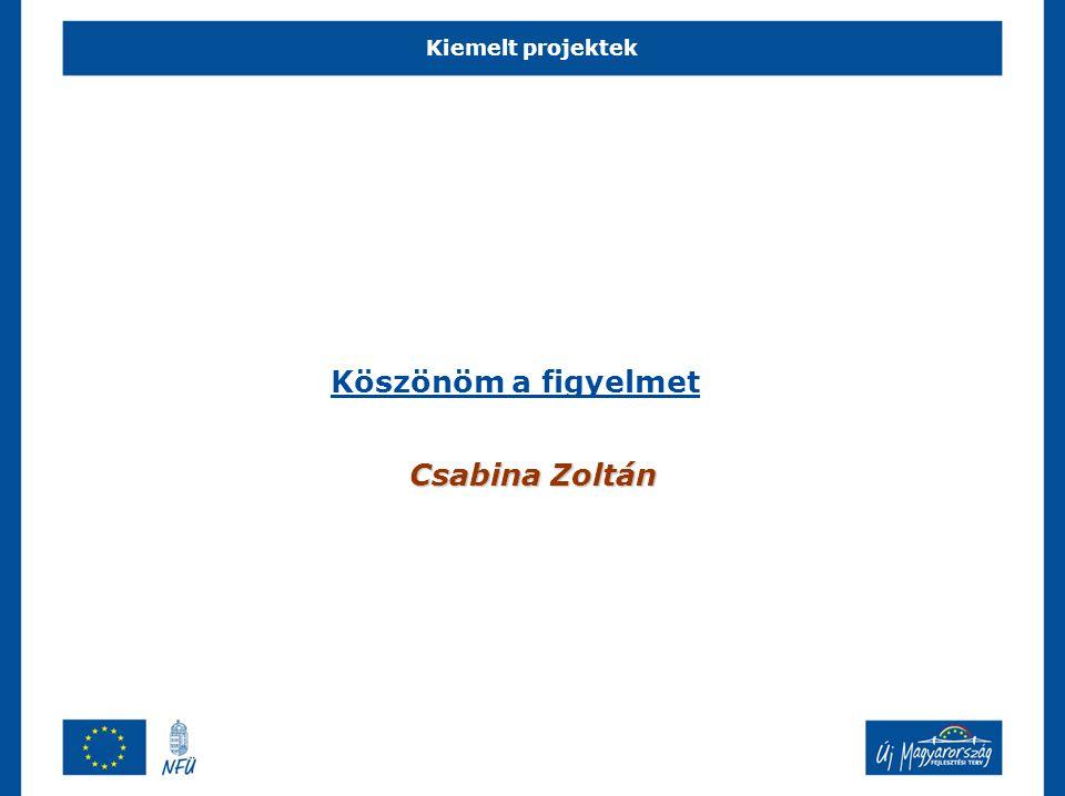 Köszönöm a figyelmet Csabina Zoltán