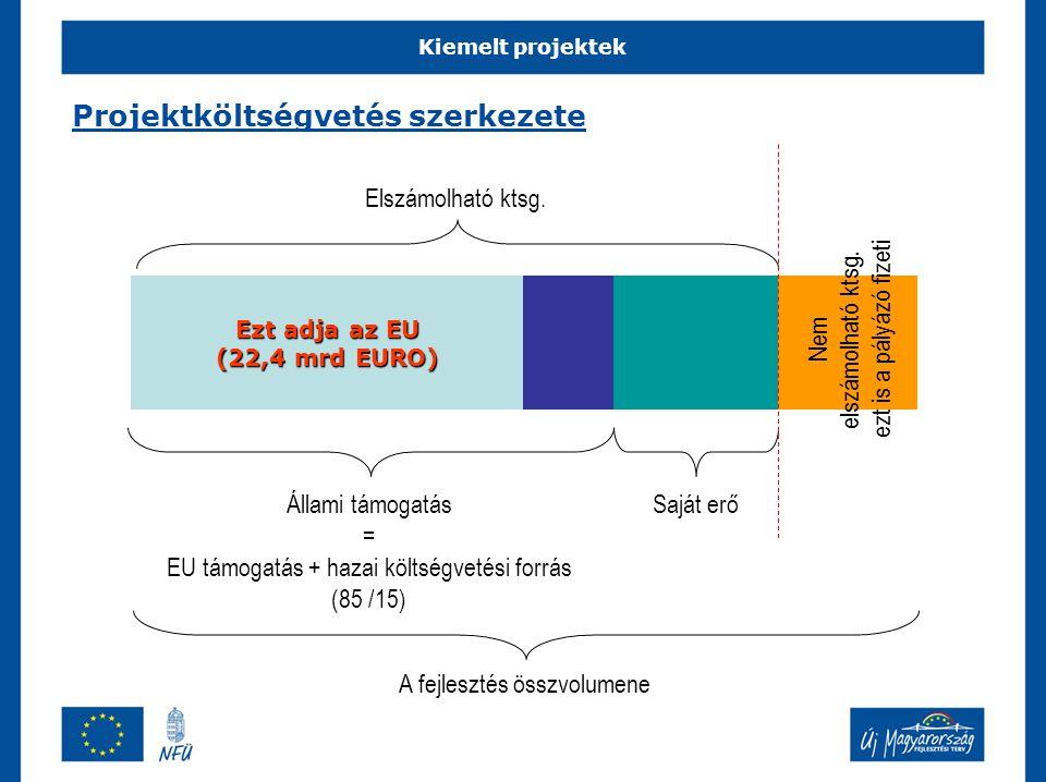 Projektköltségvetés szerkezete
