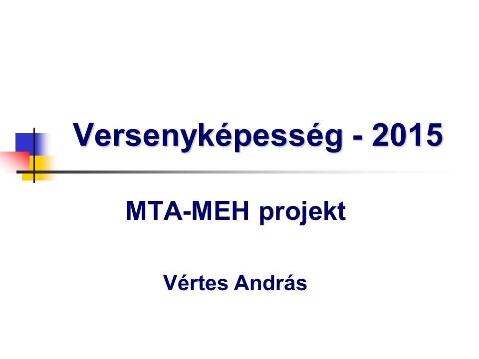 MTA-MEH projekt Vértes András