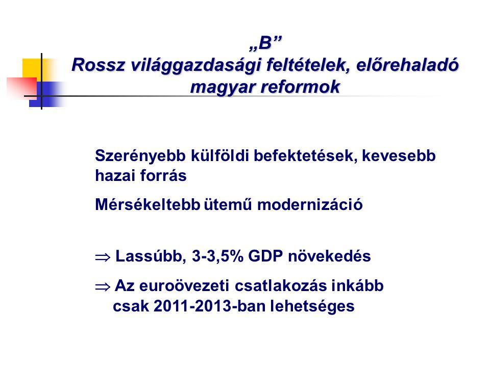 """""""B Rossz világgazdasági feltételek, előrehaladó magyar reformok"""