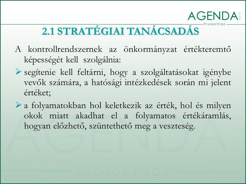 2.1 STRATÉGIAI TANÁCSADÁS