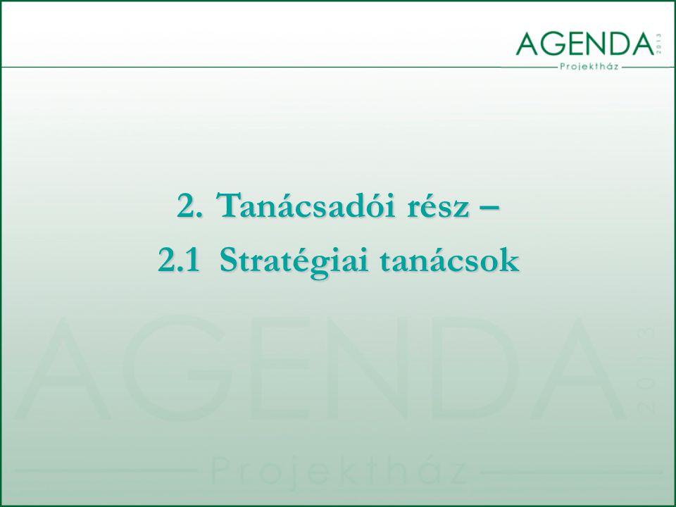 Tanácsadói rész – 2.1 Stratégiai tanácsok