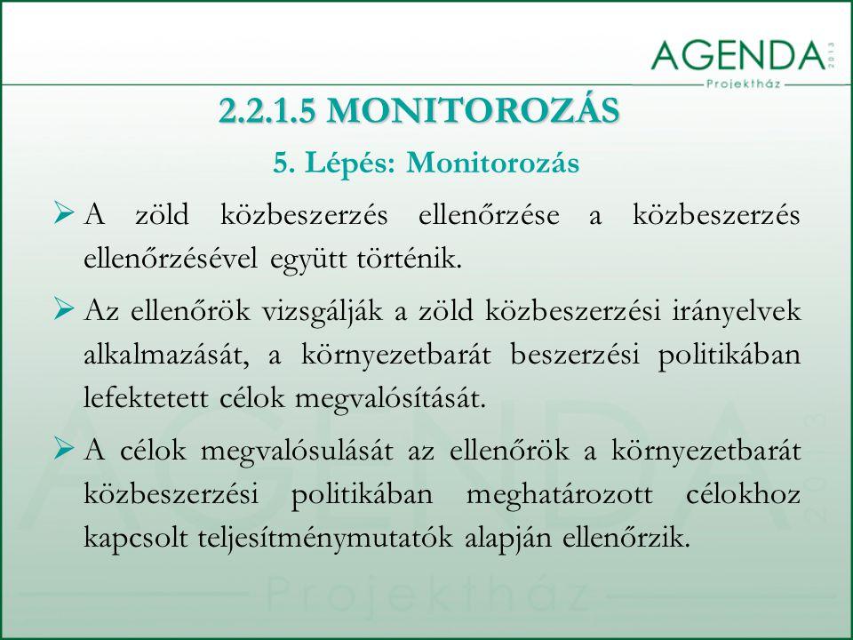 2.2.1.5 MONITOROZÁS 5. Lépés: Monitorozás