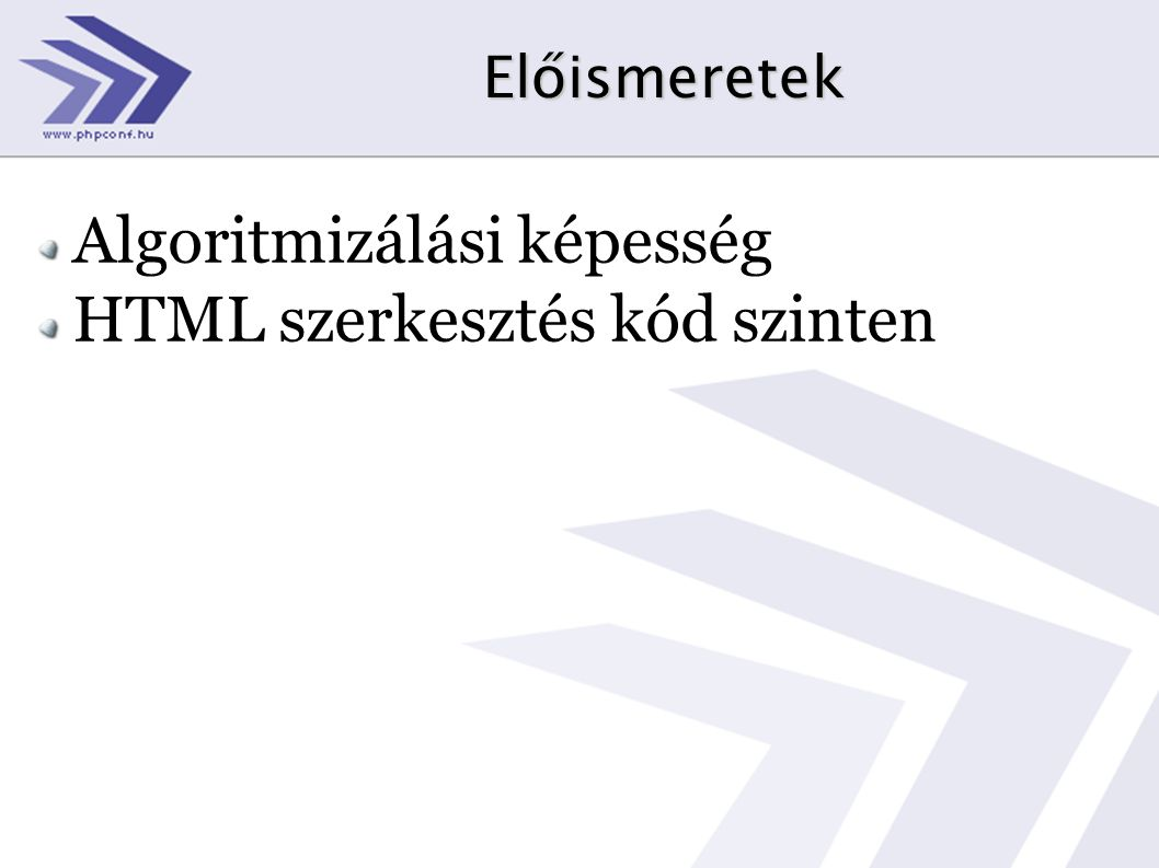 Algoritmizálási képesség HTML szerkesztés kód szinten