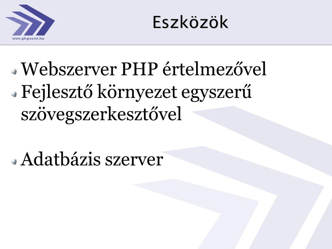 Webszerver PHP értelmezővel