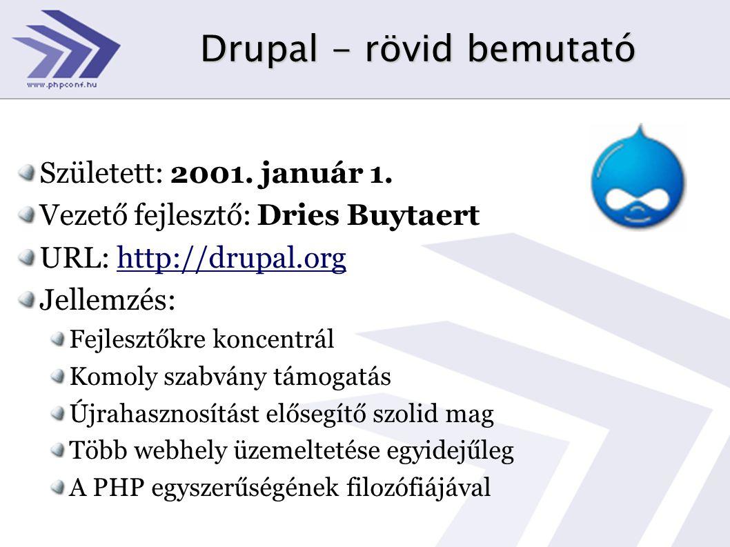 Drupal - rövid bemutató