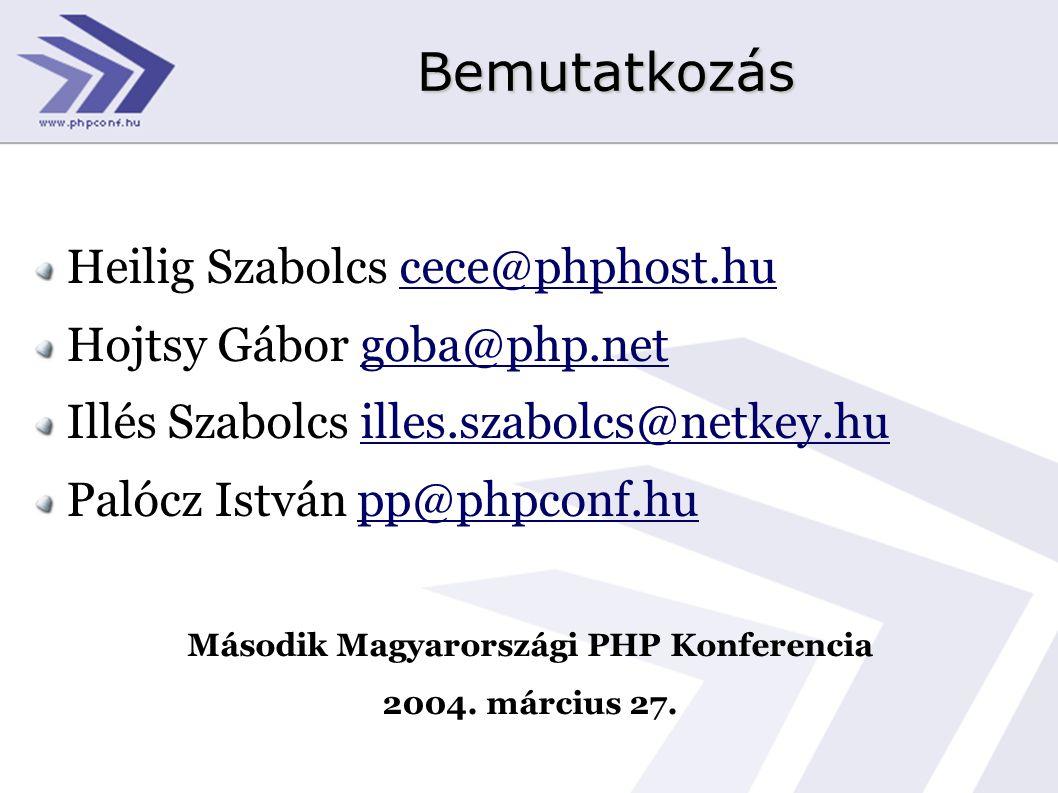 Második Magyarországi PHP Konferencia