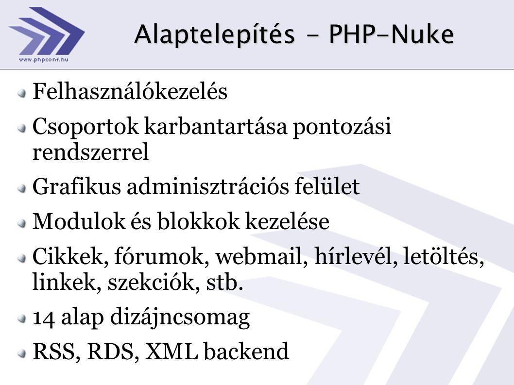 Alaptelepítés - PHP-Nuke