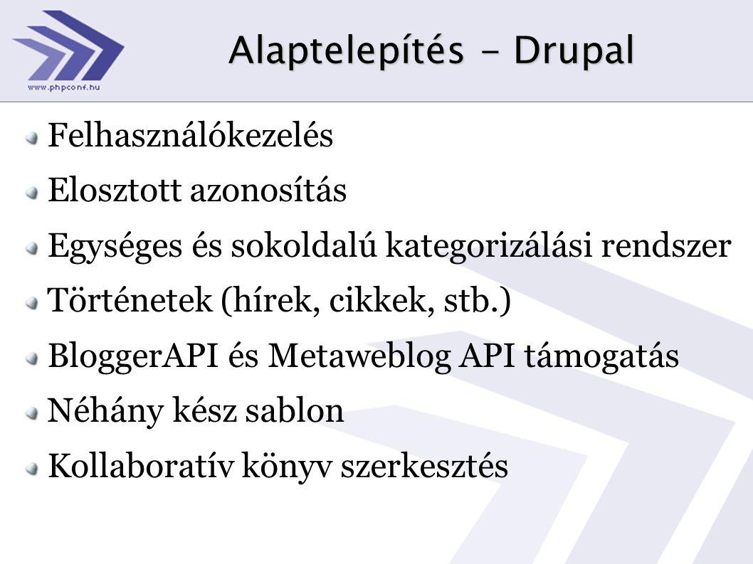 Alaptelepítés - Drupal