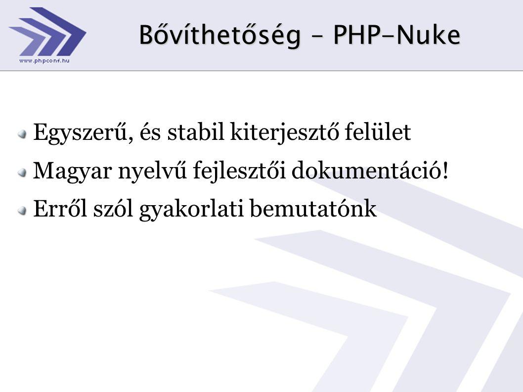 Bővíthetőség – PHP-Nuke