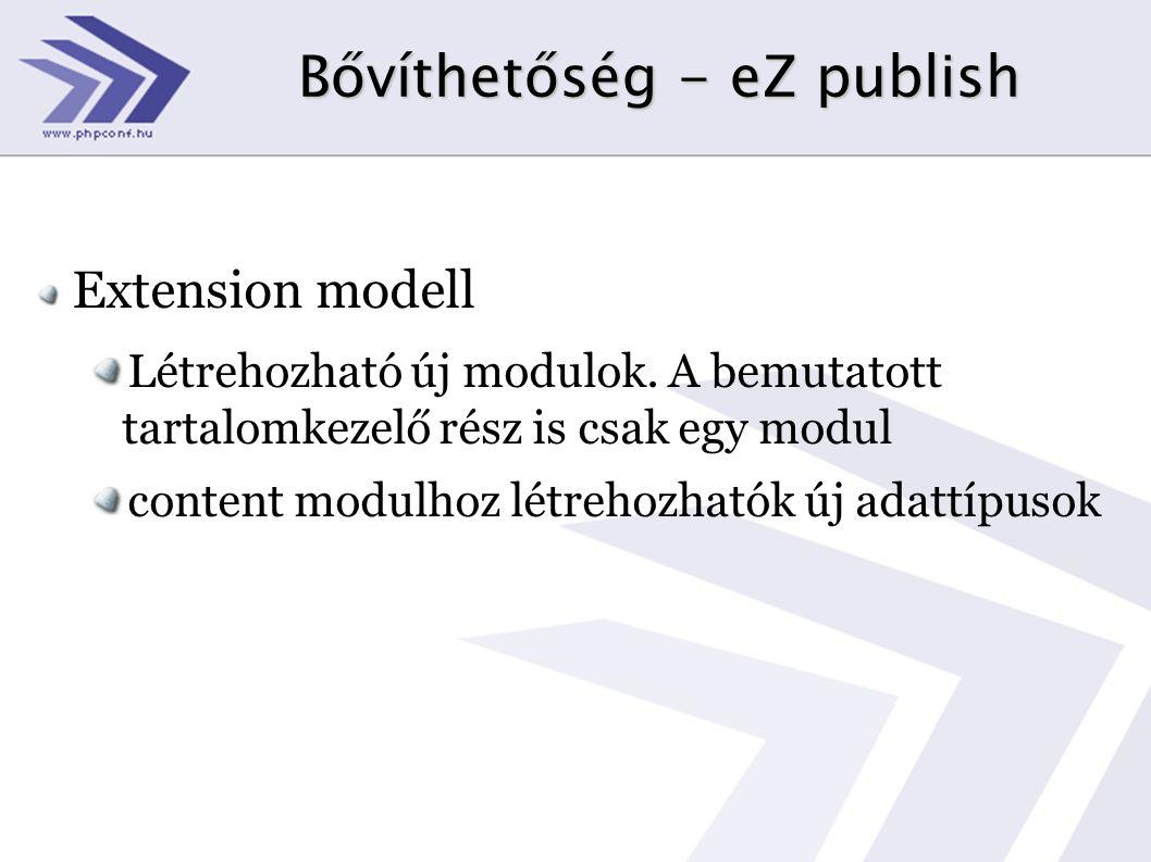 Bővíthetőség - eZ publish