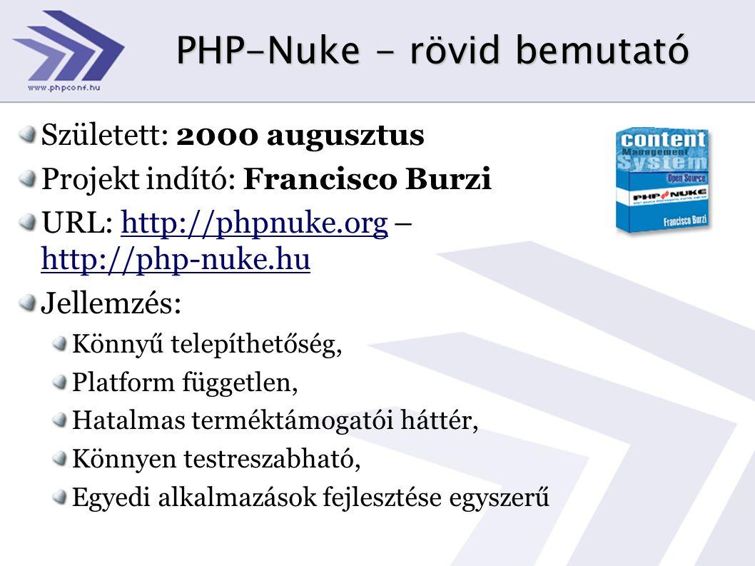 PHP-Nuke - rövid bemutató
