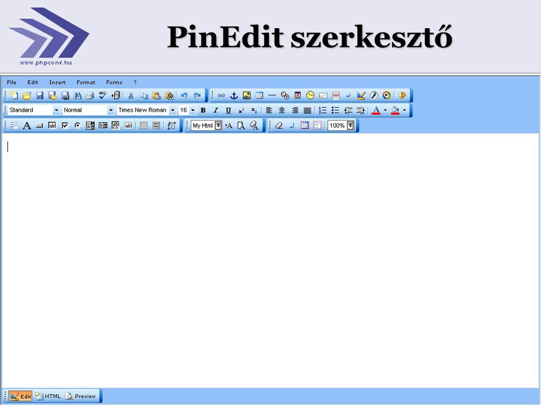 PinEdit szerkesztő