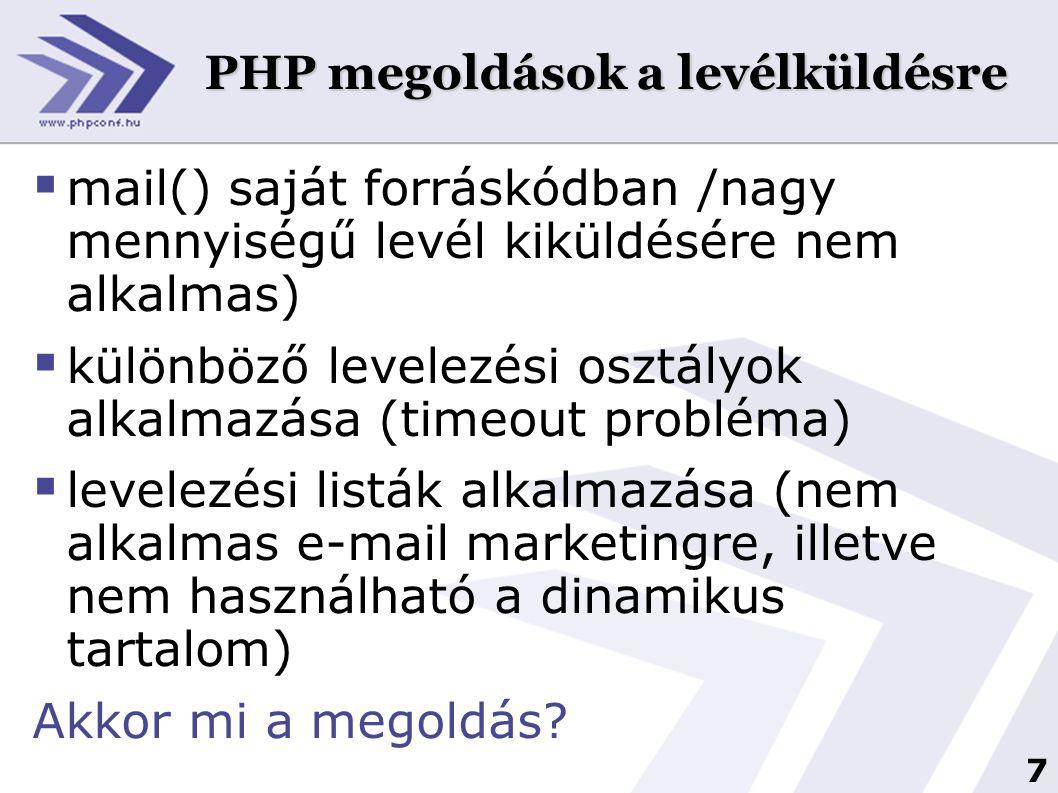 PHP megoldások a levélküldésre
