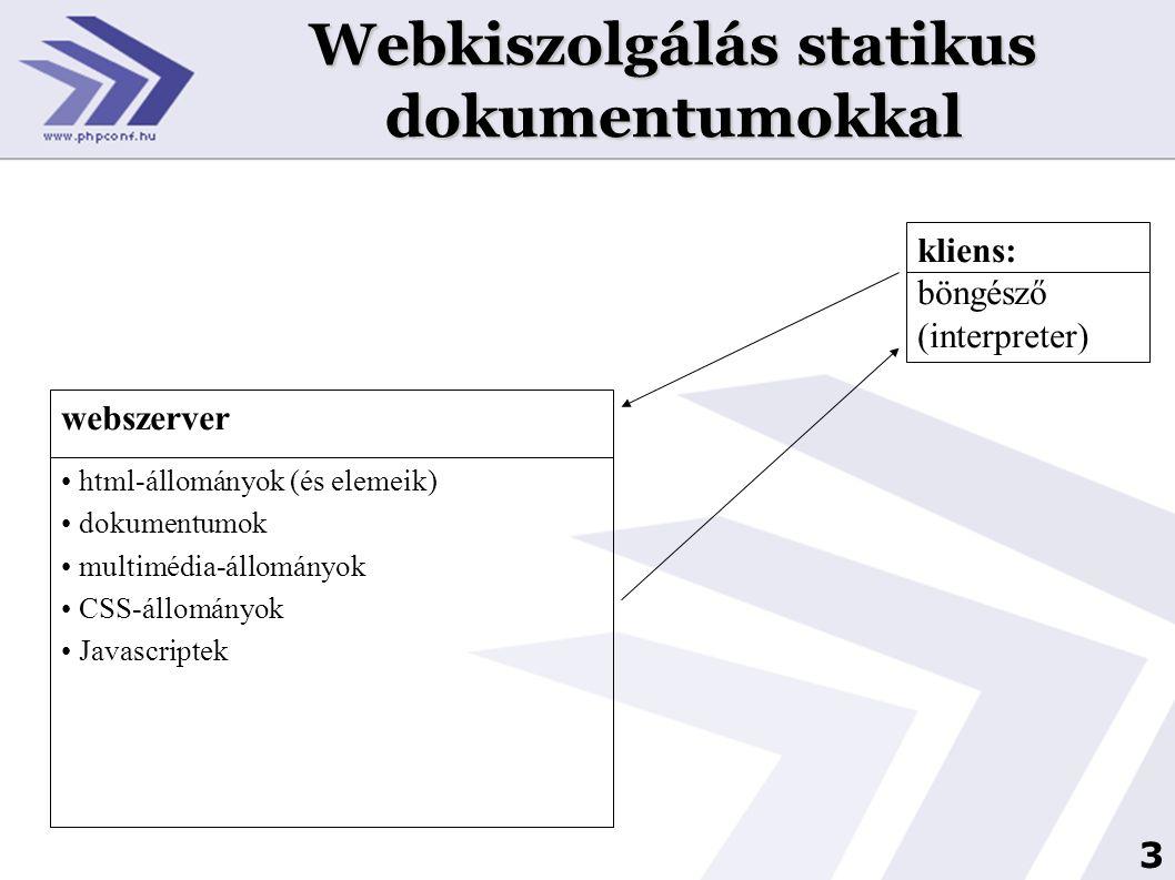 Webkiszolgálás statikus dokumentumokkal