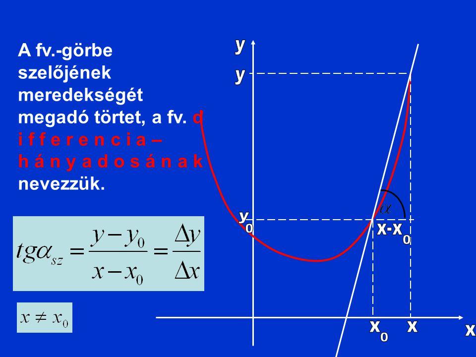 h á n y a d o s á n a k nevezzük.
