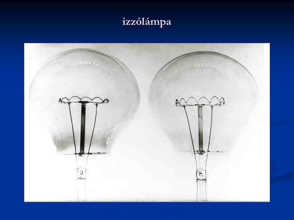 izzólámpa A fémszálas izzólámpák 1900 és 1910 között jelentek meg különbözõ fémszálakkal.