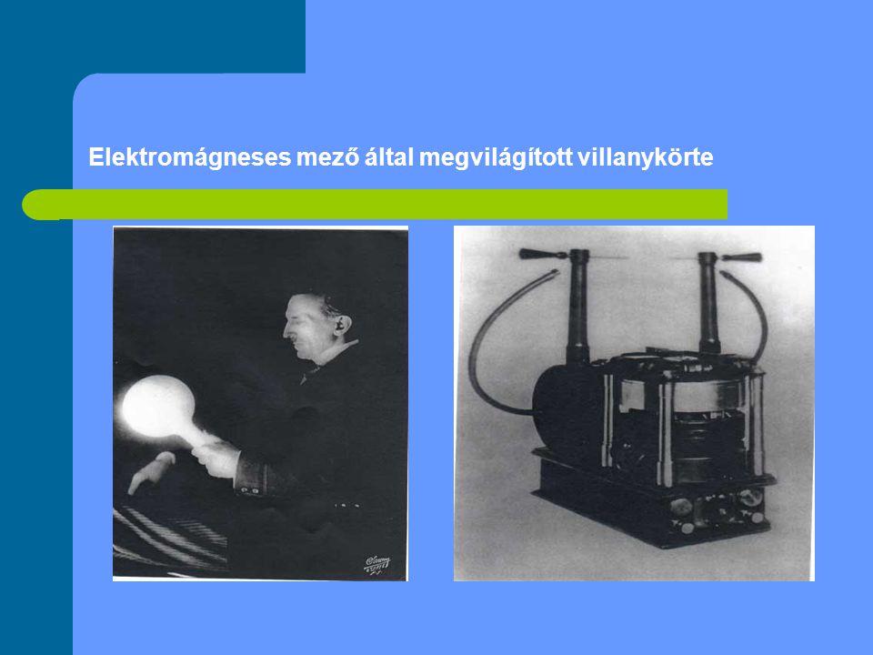 Elektromágneses mező által megvilágított villanykörte