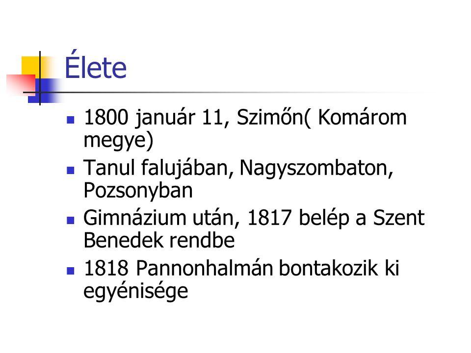 Élete 1800 január 11, Szimőn( Komárom megye)