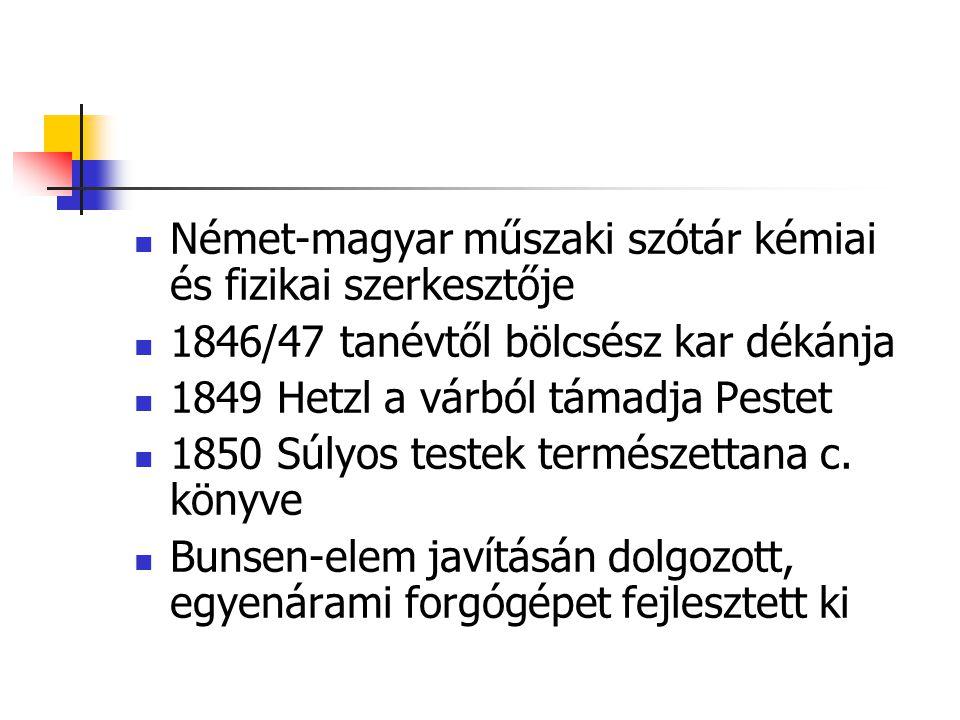 Német-magyar műszaki szótár kémiai és fizikai szerkesztője