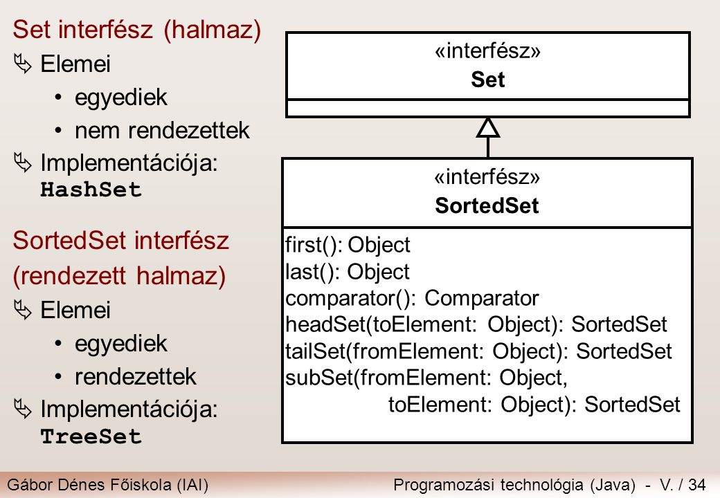 Set interfész (halmaz)