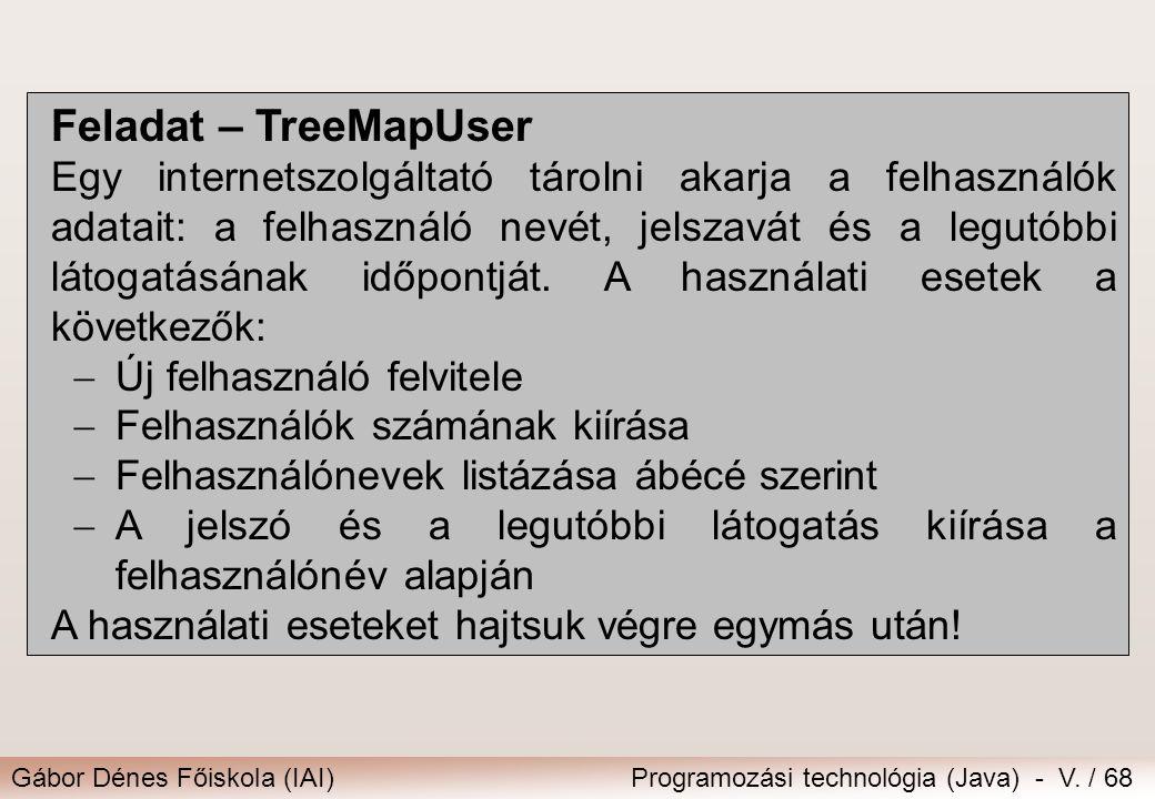 Feladat – TreeMapUser