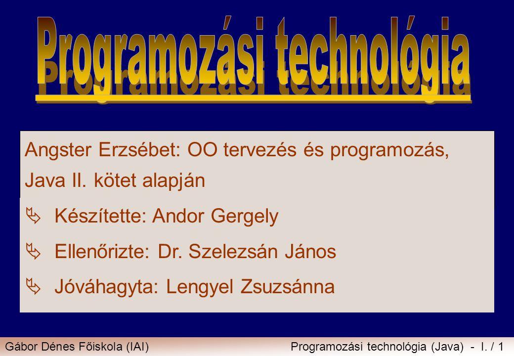 Programozási technológia