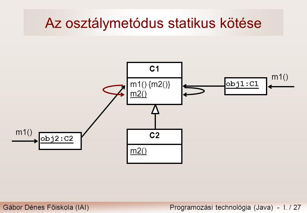 Az osztálymetódus statikus kötése