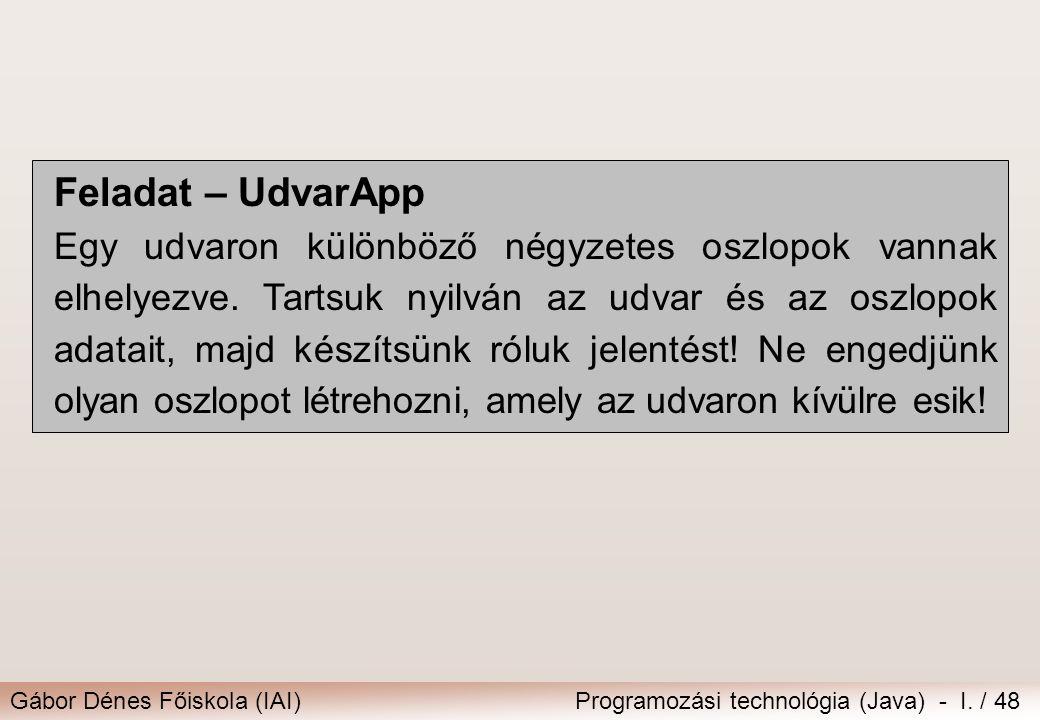 Feladat – UdvarApp