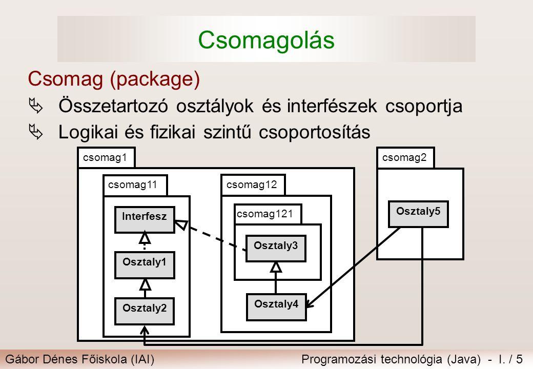 Csomagolás Csomag (package)