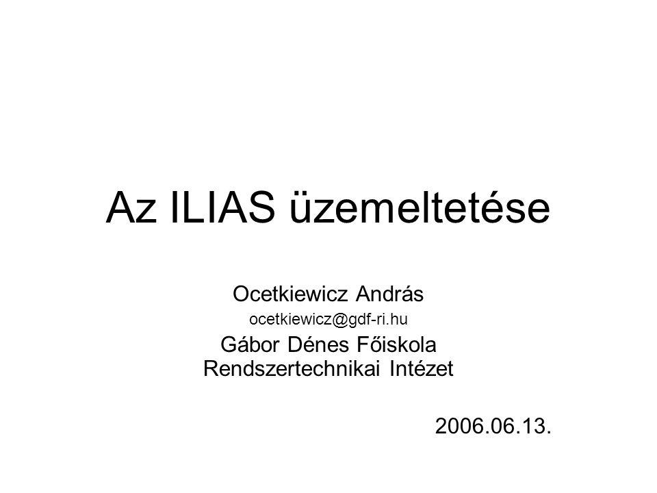 Gábor Dénes Főiskola Rendszertechnikai Intézet