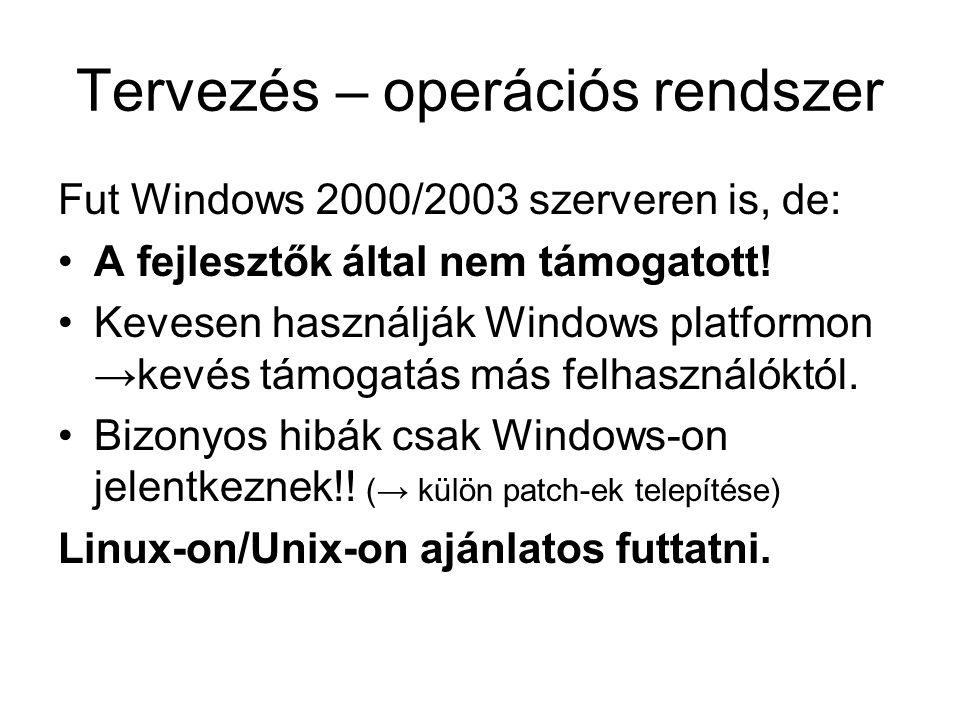 Tervezés – operációs rendszer