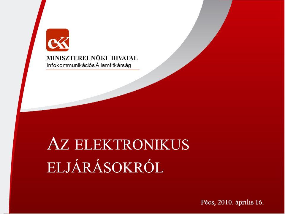 Az elektronikus eljárásokról