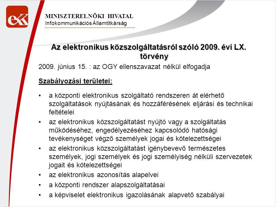 Az elektronikus közszolgáltatásról szóló 2009. évi LX. törvény