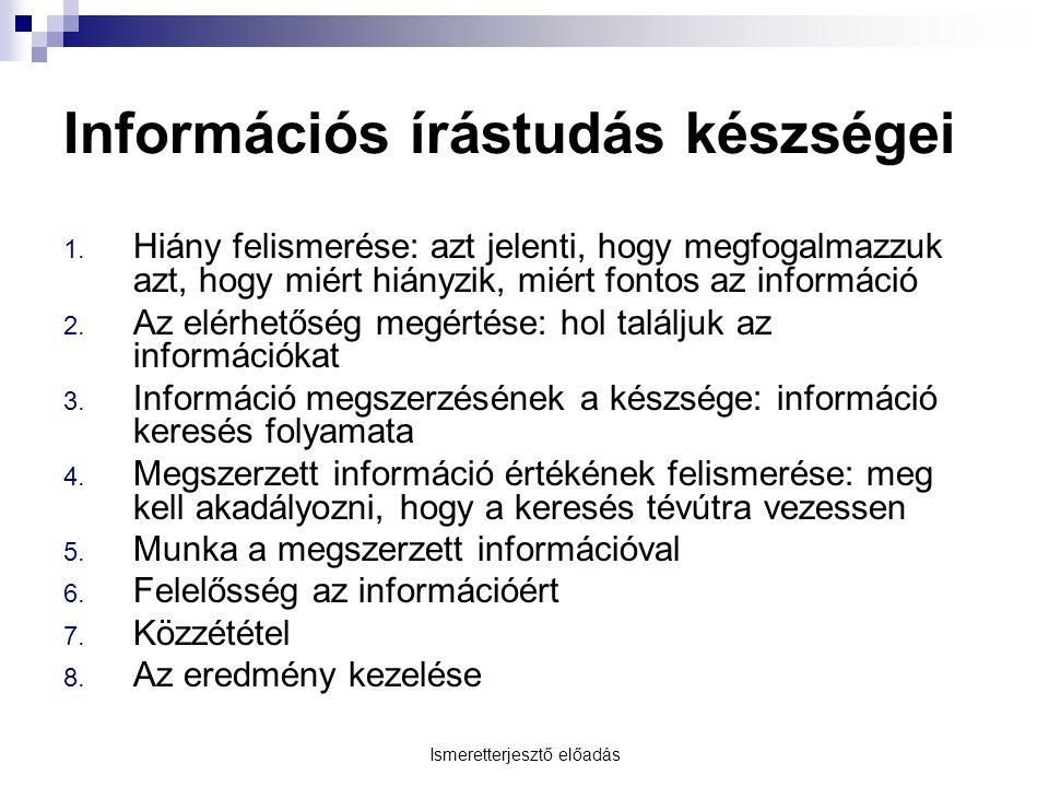 Információs írástudás készségei