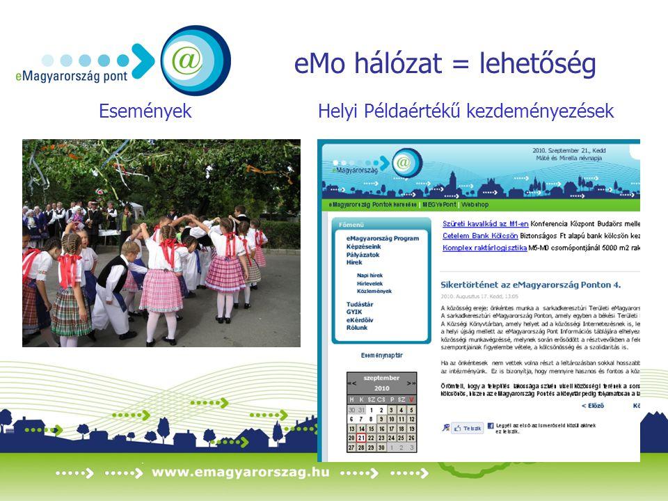 eMo hálózat = lehetőség