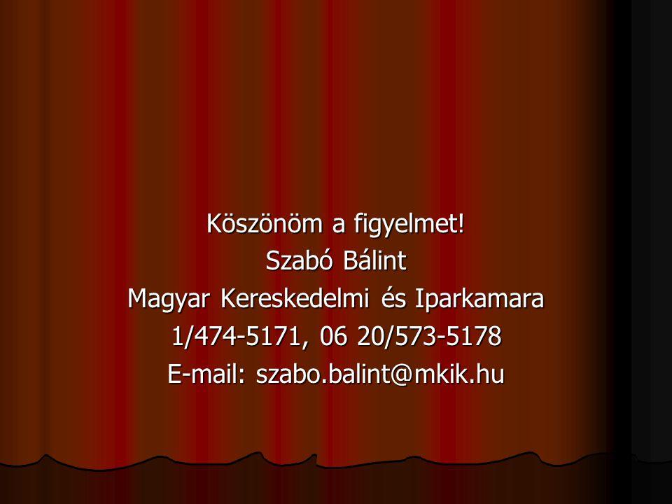 Magyar Kereskedelmi és Iparkamara 1/474-5171, 06 20/573-5178
