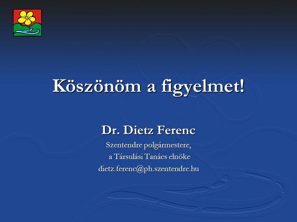 Köszönöm a figyelmet! Dr. Dietz Ferenc Szentendre polgármestere,
