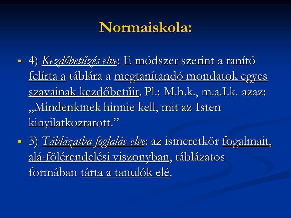 Normaiskola: