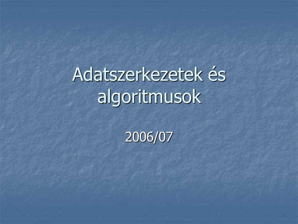 Adatszerkezetek és algoritmusok