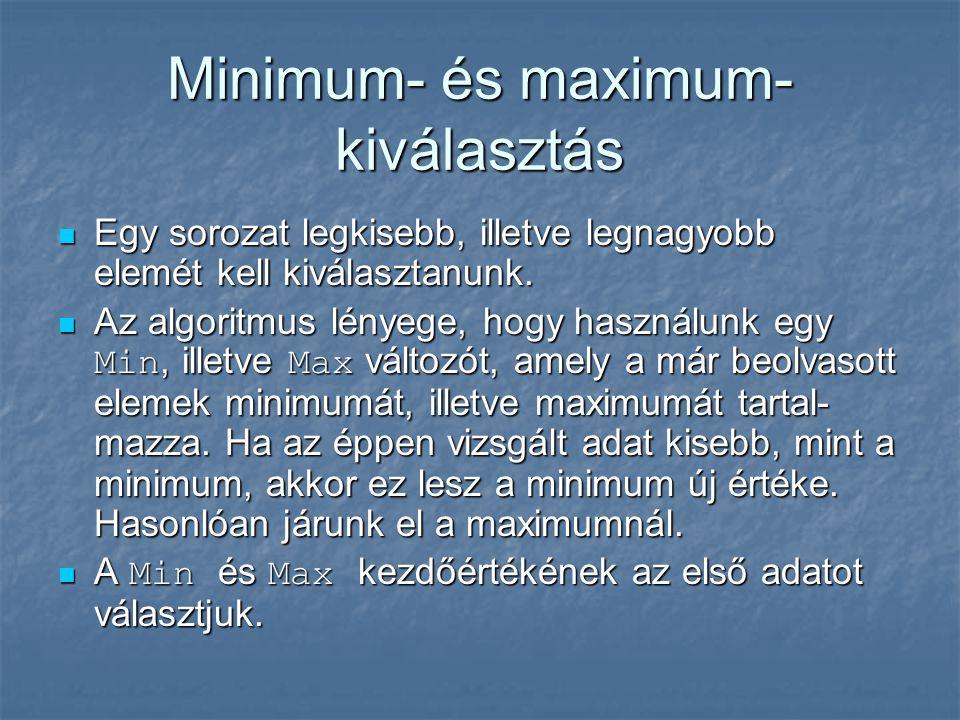 Minimum- és maximum- kiválasztás