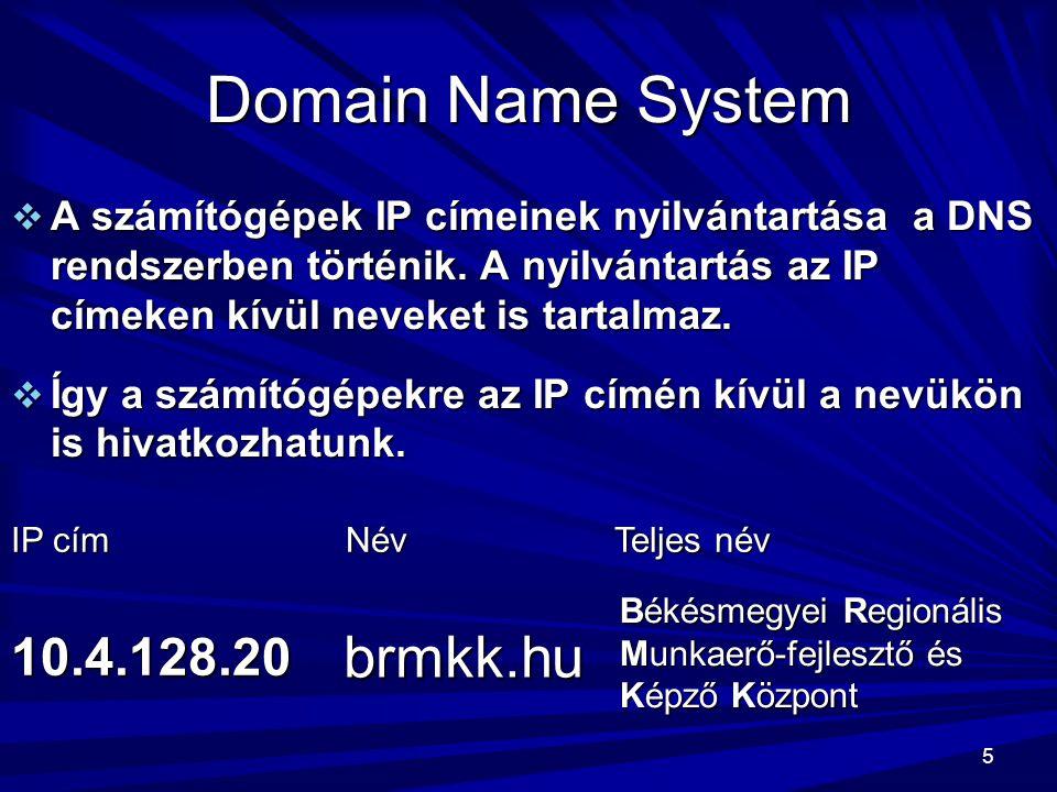 Domain Name System brmkk.hu 10.4.128.20